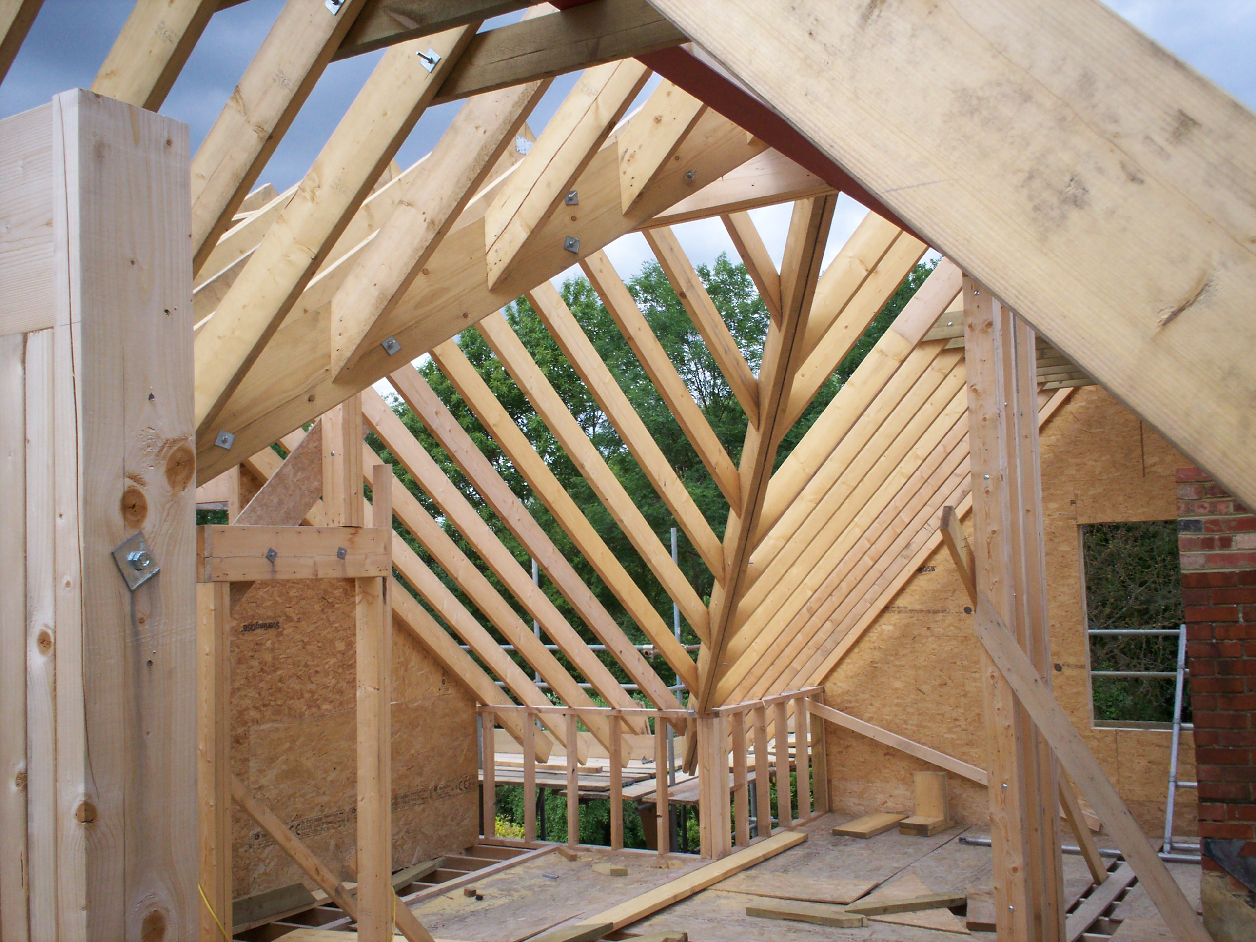 Timber Frame Build With Cut And Pitch Roof An Carpentry